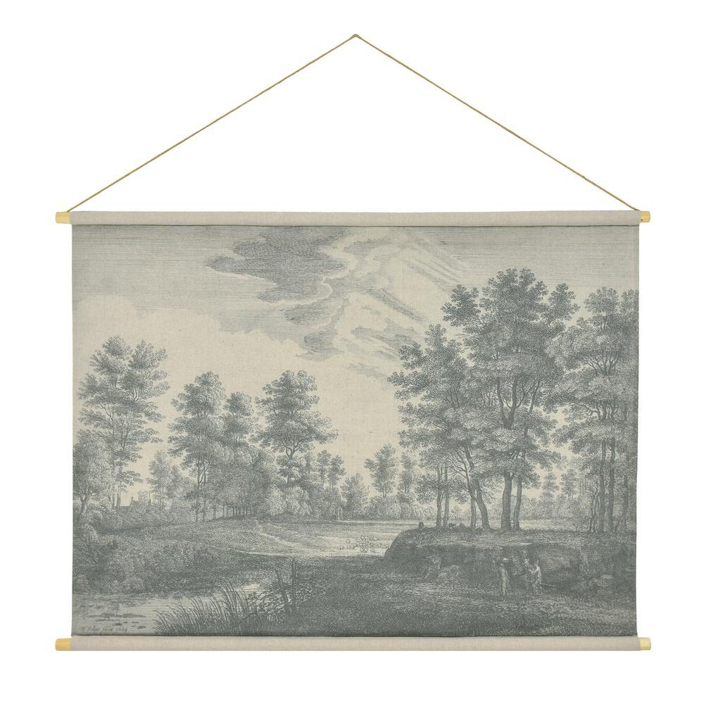 Flemish Landscape Hanging Linen Tapestry
