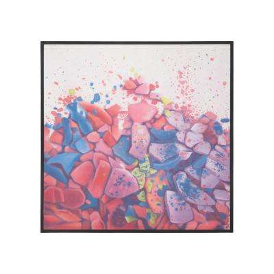 """36 in. x 36 in. """"Crush"""" Hand Painted Framed Canvas Wall Art"""