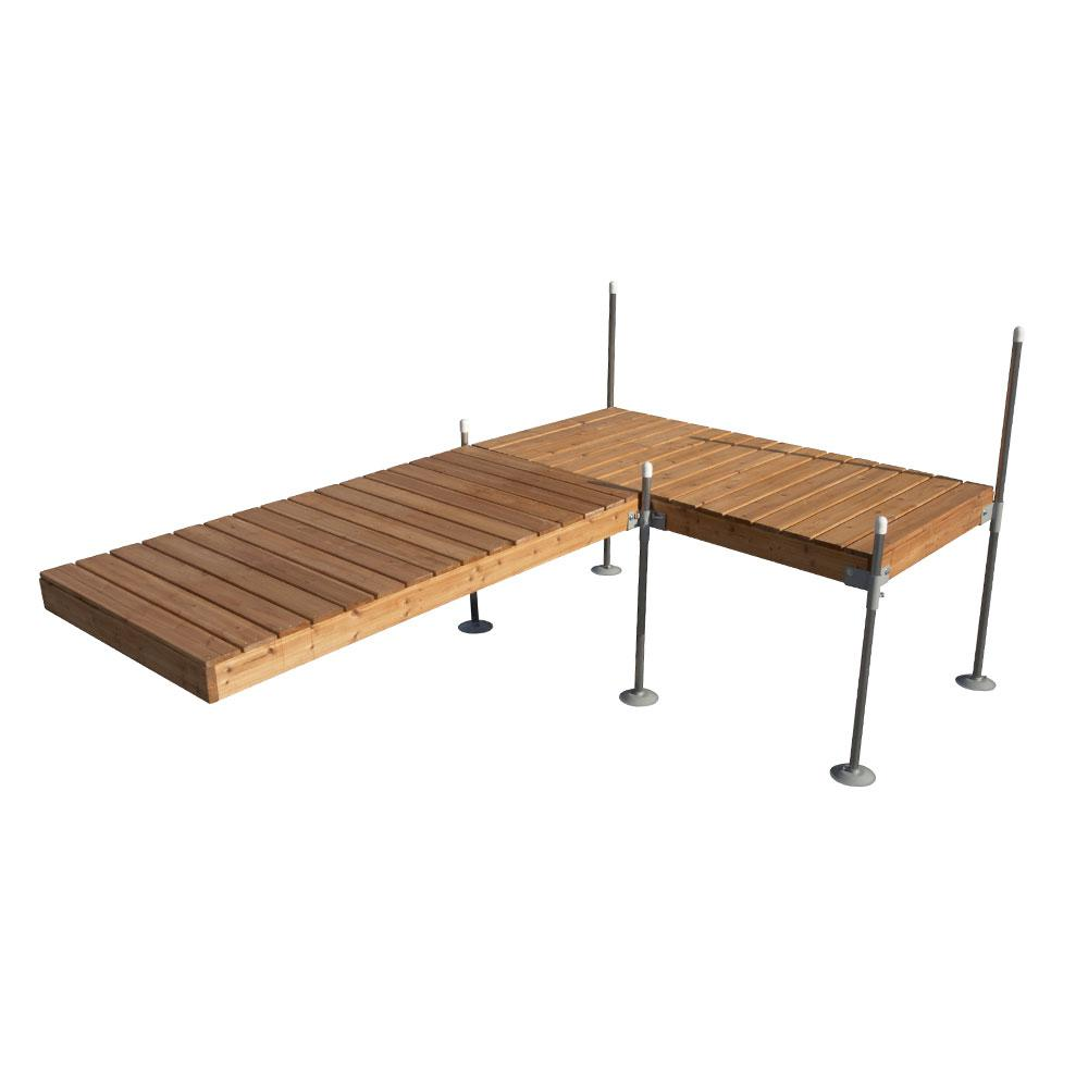 12 ft. L-Style Cedar Complete Dock Package
