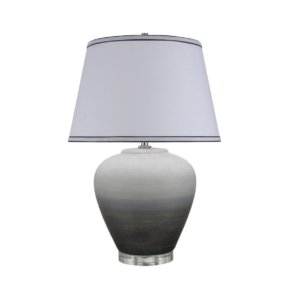 Aspen Creative Corporation 24 In Ombre Black Ceramic Table Lamp