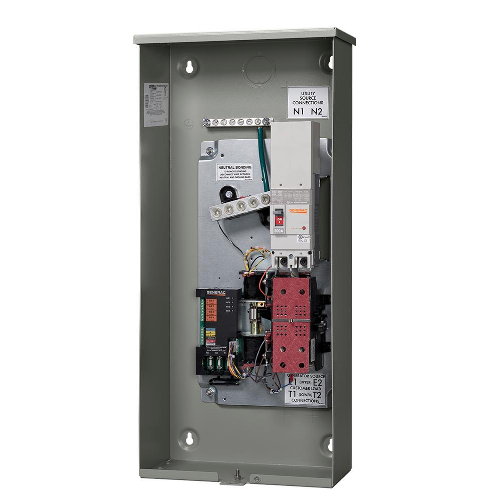 Generac 200-Amp Service Rate Whole House Transfer Switch-RXSW200A3 - The  Home DepotThe Home Depot