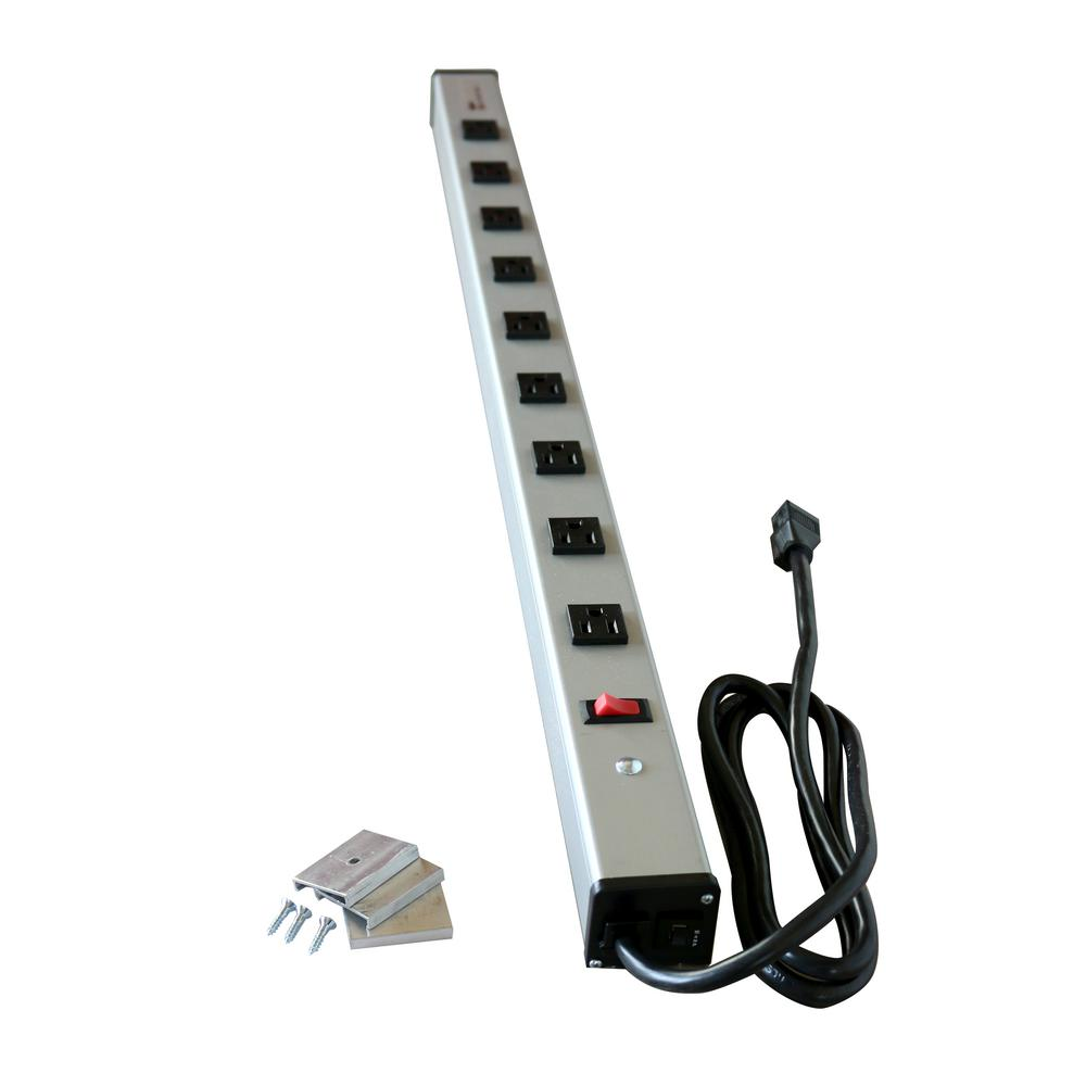 legrand wiremold 9 outlet 15 amp industrial power strip with lighted rh homedepot com