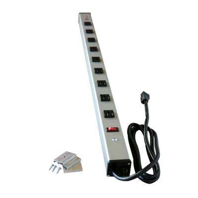 9-Outlet 15-Amp Industrial Power Strip with Lighted On/Off Switch, 6 ft. Cord