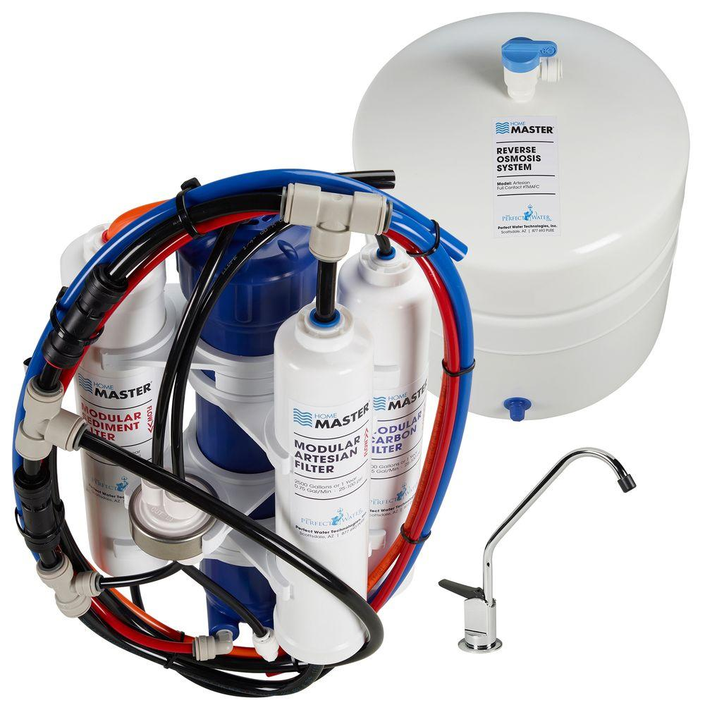Perfect Water Technologies Home Master Artesian Full Contact Undersink Reverse Osmosis Water Filtration System