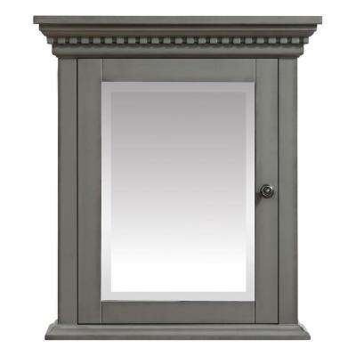 Hastings 24 in. W x 27 in. H x 7.9 in. D Surface-Mount Medicine Cabinet in French Gray