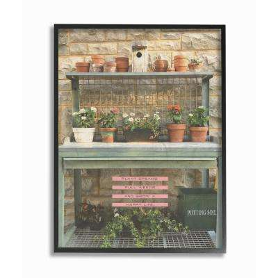 """16 in. x 20 in. """"Pink and Green Plant Dreams Garden Typography Photograph"""" by Tammy Apple Framed Wall Art"""