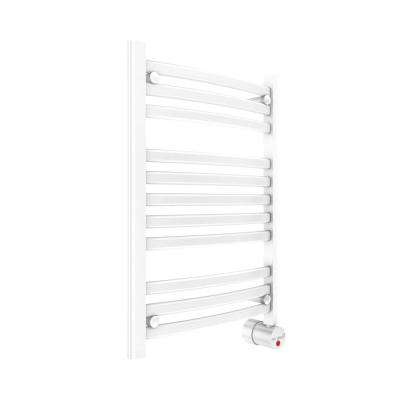 11-Bar Wall Mounted Electric Towel Warmer with Digital Timer in White