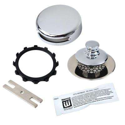 Universal NuFit Push Pull Bathtub Stopper with Grid Strainer, Innovator Overflow and Silicone in Chrome Plated