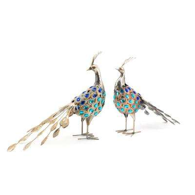 Metallic Pheasant Figurine (Set of 2)