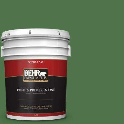 5 gal. #MQ4-49 Emerald Forest Flat Exterior Paint and Primer in One