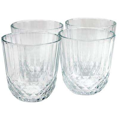 Diony 10.75 oz. Double Old-Fashioned Glass (4-Pack)
