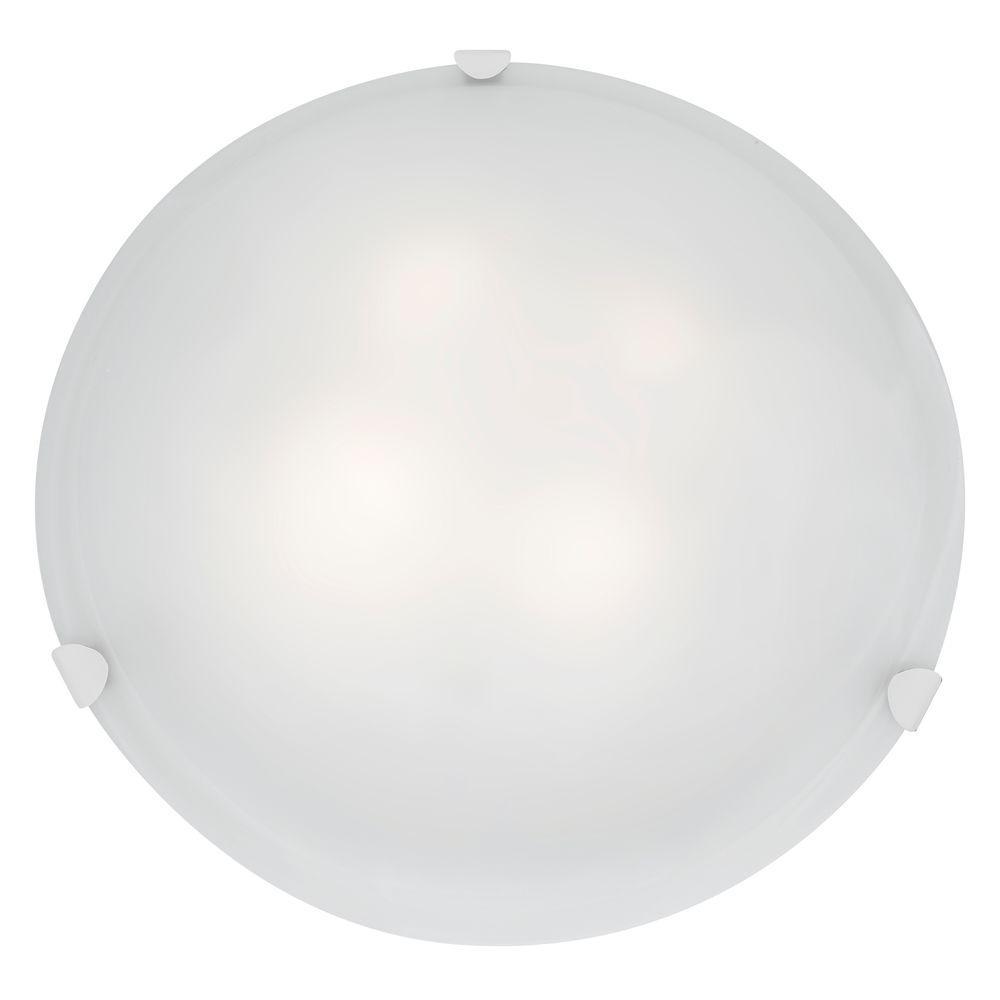 Access Lighting Mona 4-Light White Flushmount with White Glass Shade