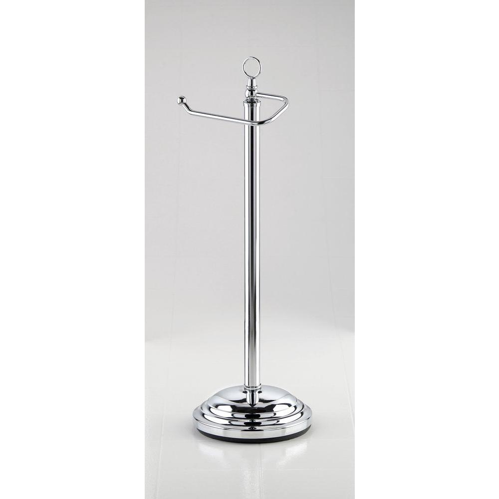 Taymor Freestanding Toilet Paper Holder with Euro Roller in Chrome-DISCONTINUED