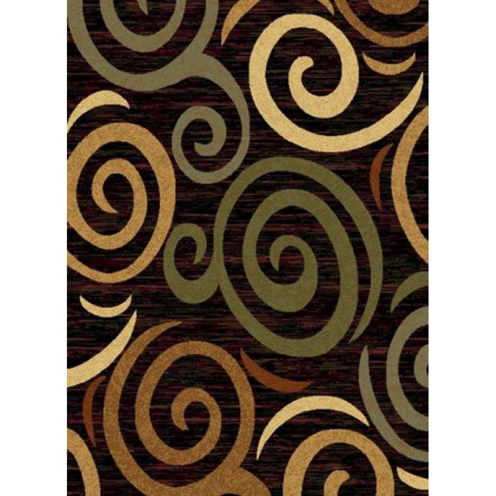 United Weavers Helium Black 7 ft. 10 in. x 10 ft. 6 in. Area Rug
