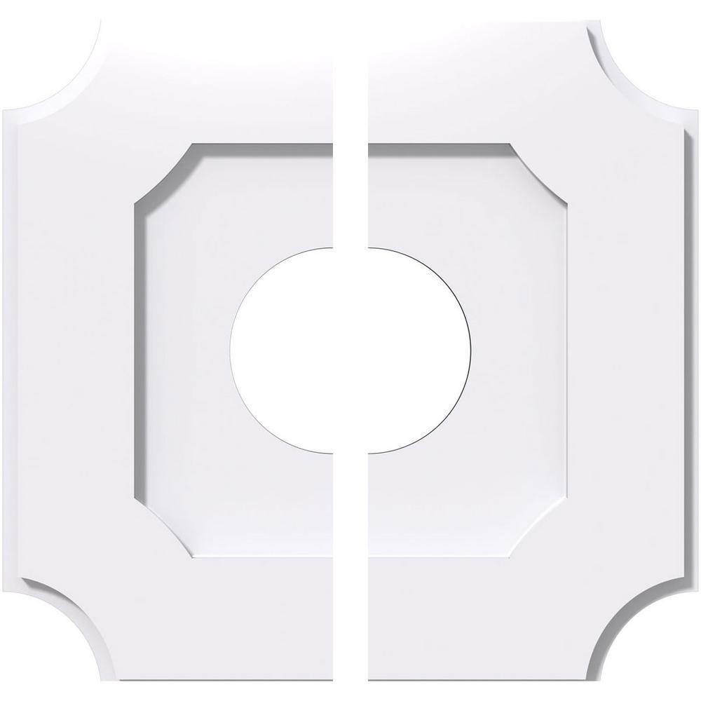20 in. OD x 6 in. ID x 1 in. P Locke Architectural Grade PVC Contemporary Ceiling Medallion (2-Piece)