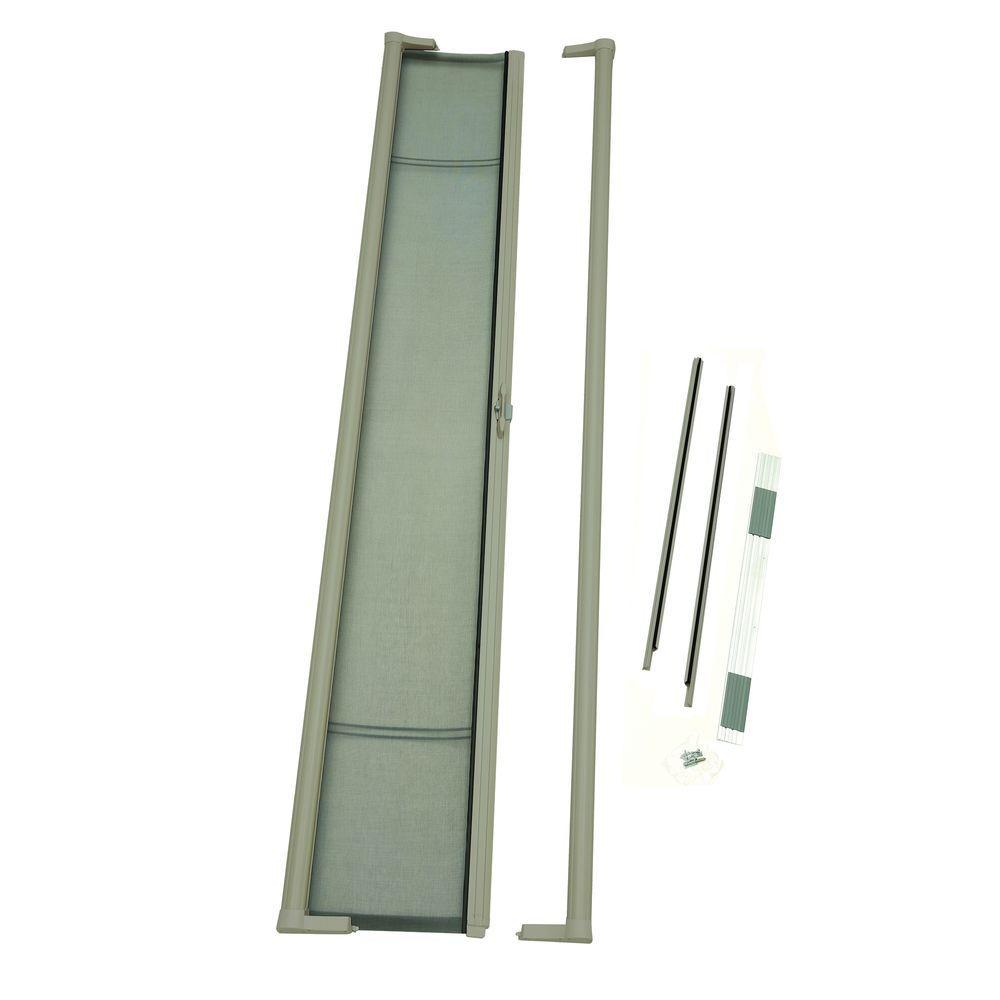 36 in. x 96 in. Brisa Sandstone Tall Retractable Screen Door