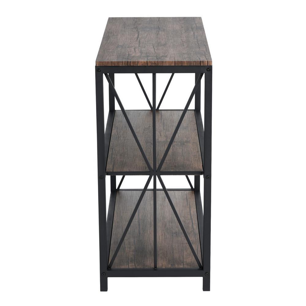Honourable Walnut Wooden Bookcase 2-Tier Shelf