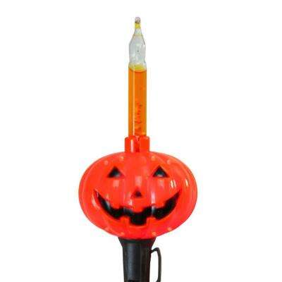 Orange Pumpkin Halloween Bubble Light Set (Set of 10)