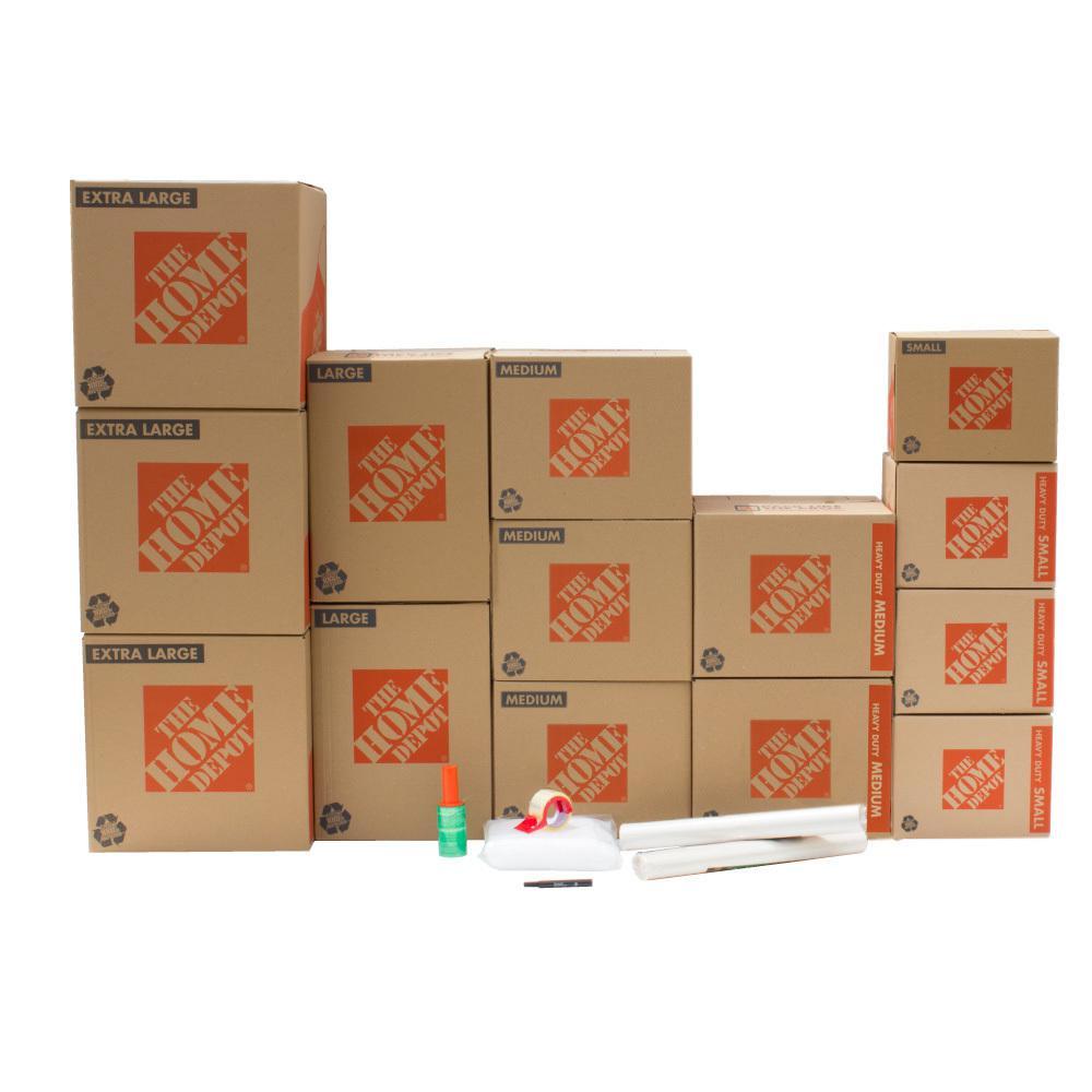The Home Depot 14-Box Garage Moving Box Kit