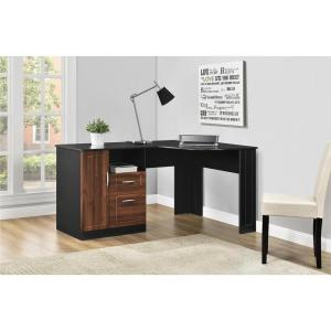 Altra Furniture Avalon Cherry and Black Desk with Storage by Altra Furniture