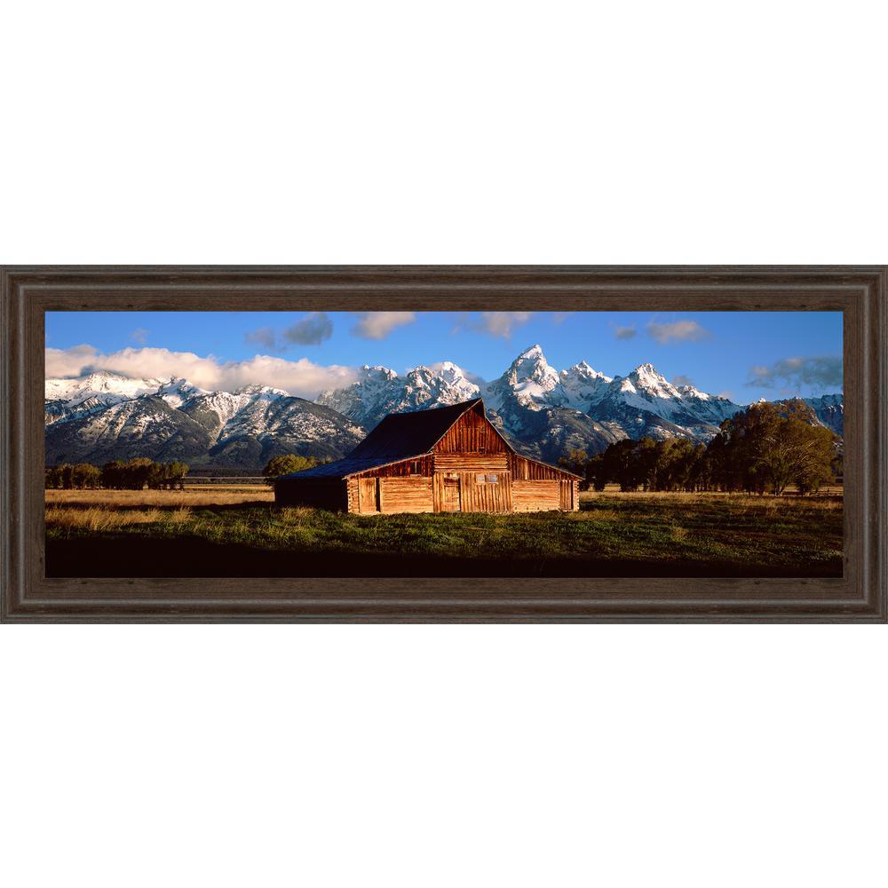 "18 in. x 42 in. ""Alma Moulton Barn"" by Shelley Lake Framed Printed Wall Art"