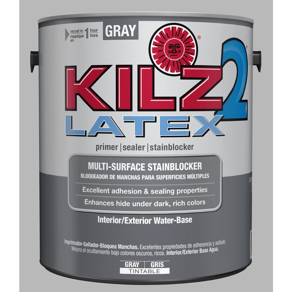 LATEX 1 gal. Gray Interior/Exterior Multi-Surface Primer, Sealer, and Stain