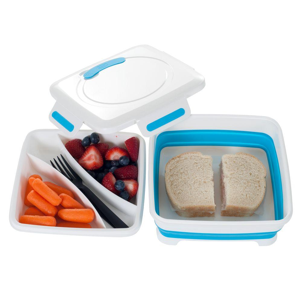 Square Expandable Lunch Box with Dividers  sc 1 st  The Home Depot & Square Expandable Lunch Box with Dividers-85-HH093 - The Home Depot