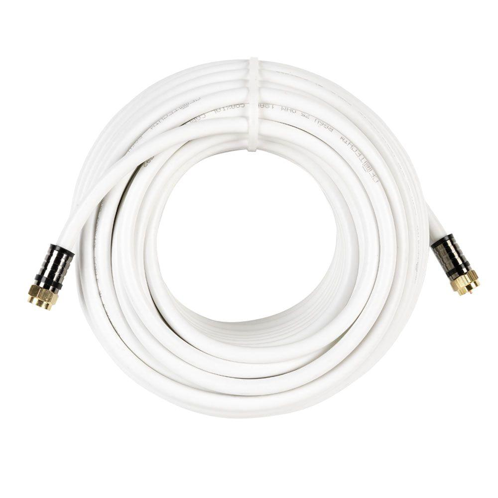 commercial electric 50 ft  rg-6 coaxial cable - white-y276376
