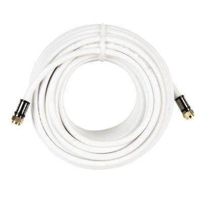 50 ft. RG-6 Coaxial Cable - White