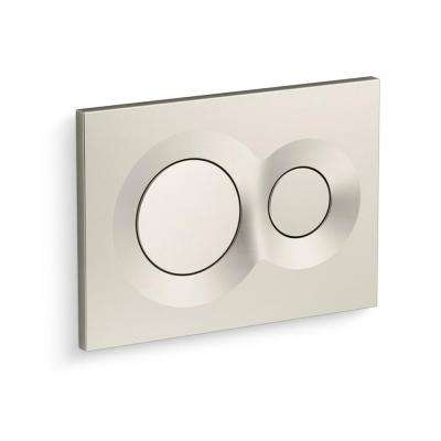Flush Actuator Plate in Vibrant Brushed Nickel