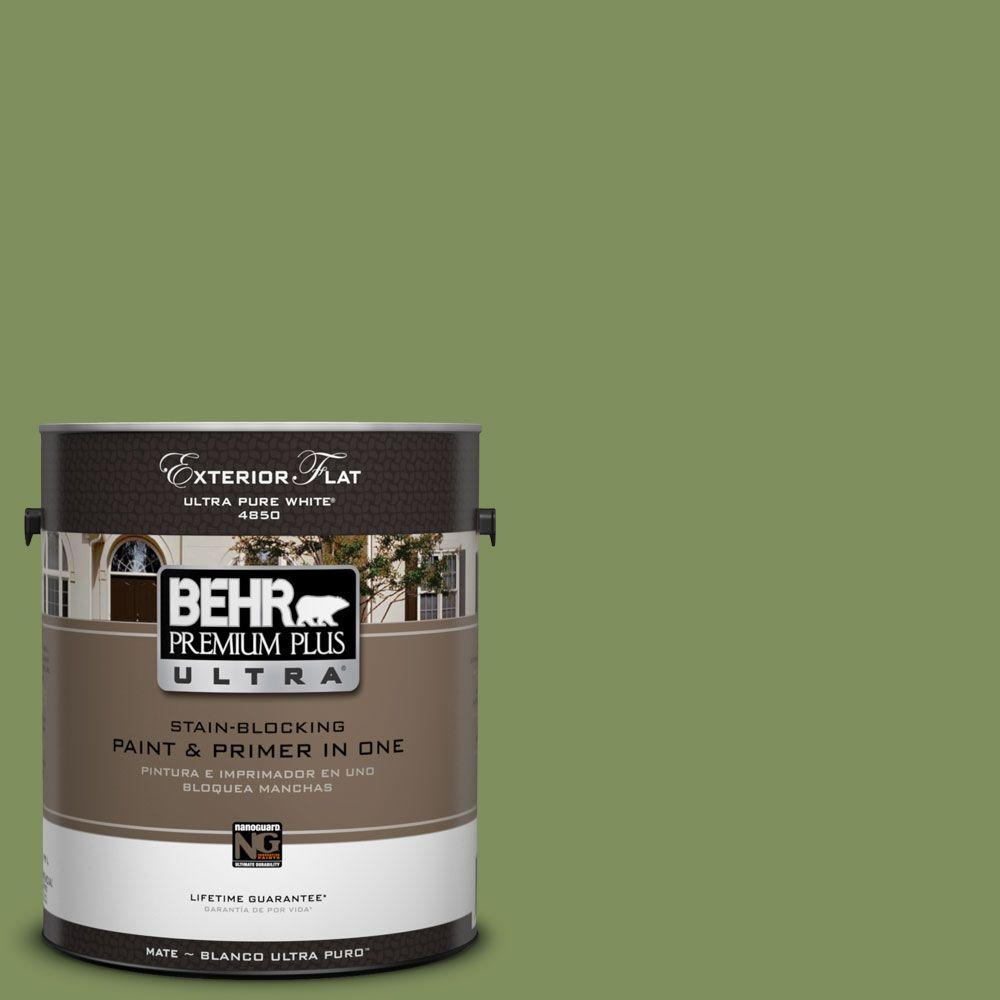 1-Gal. #UL210-17 Green Energy Flat Exterior Paint