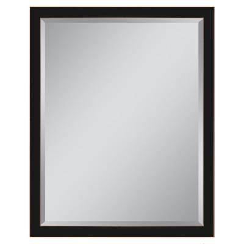 27 in. W x 37 in. H Framed Rectangular Beveled Edge Bathroom Vanity Mirror in Bronze