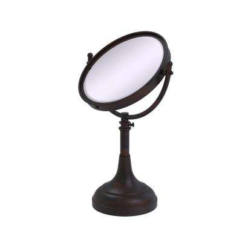 23 in. x 8 in. Vanity Top Make-Up Mirror 4x Magnification in Venetian Bronze
