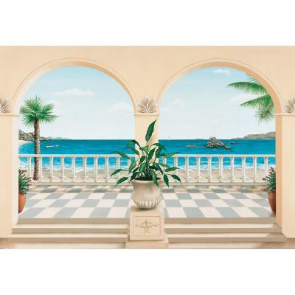 100 in. x 144 in. Terrasse Provencale Wall Mural