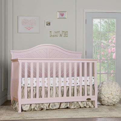Kaylin Blush Pink 5 in 1 Convertible Crib