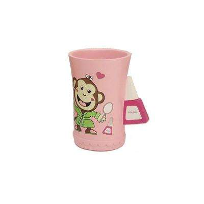 Slumber Party Collection 4 in. Tumbler in Pink with Multicolor Details