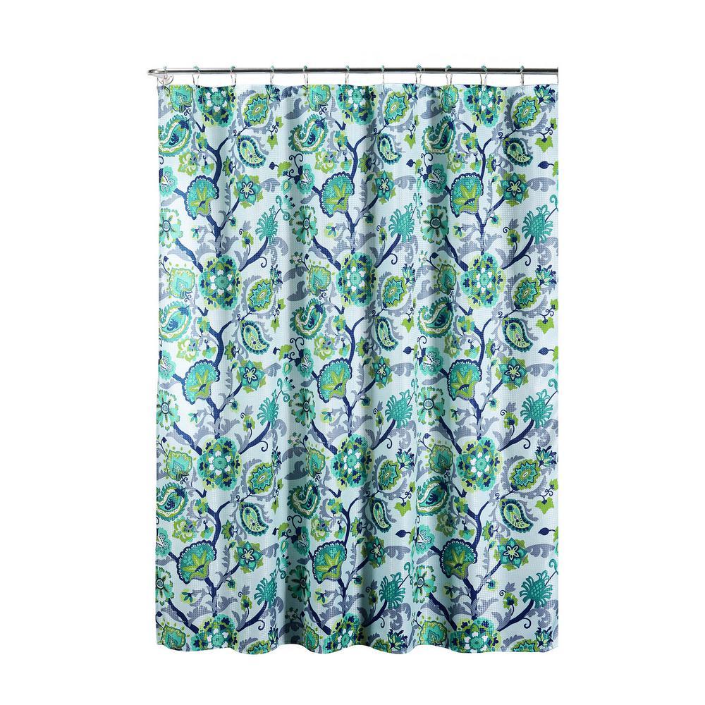 Creative Home Ideas Diamond Weave Textured 70 in. W x 72 in. L ...