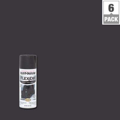 11 oz. Black Spray Paint (6-Pack)