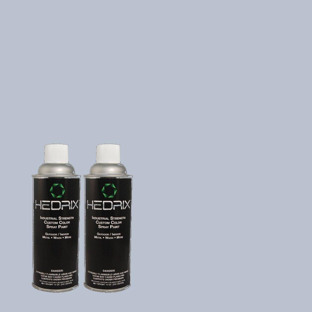 Hedrix 11 oz. Match of 580E-3 Sweet Blue Flat Custom Spray Paint (2-Pack)