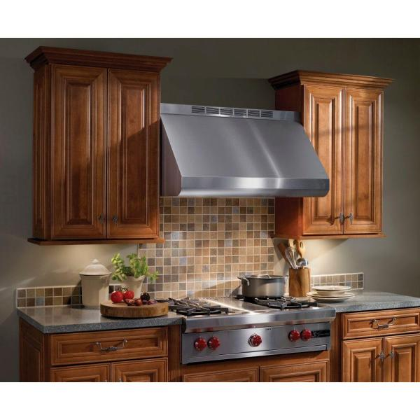 Broan Nutone Elite 48 In 1200 Cfm Convertible Externally Vented Wall Mount Range Hood With Light In Stainless Steel E6048tss The Home Depot