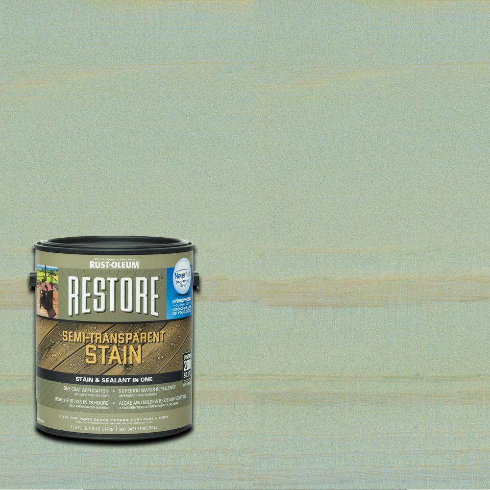 Rust-Oleum Restore 1 gal. Semi-Transparent Stain Blue Sky with NeverWet