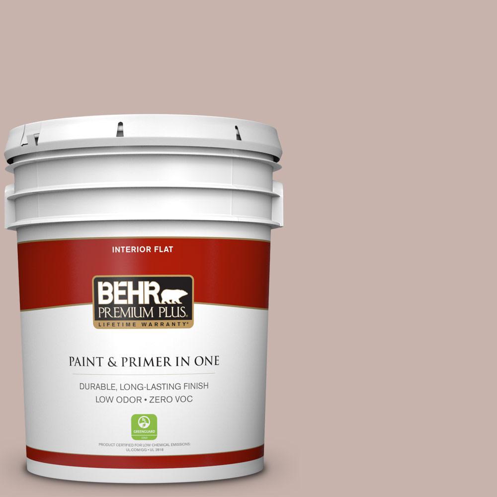 BEHR Premium Plus 5-gal. #PPF-10 Balcony Rose Zero VOC Flat Interior Paint