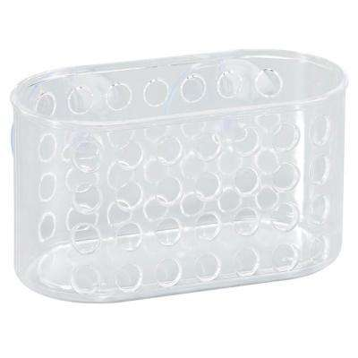 Bathroom Organizer with Suction in Clear