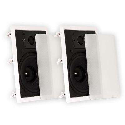 In-Wall 8 in. Speakers Deluxe Home Theater Surround Pair