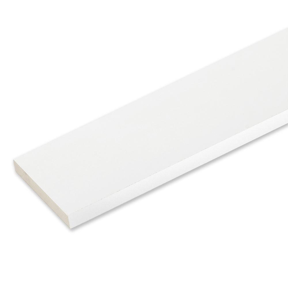 3/4 in. x 5-1/2 in. x 16 ft. White Reversible PVC