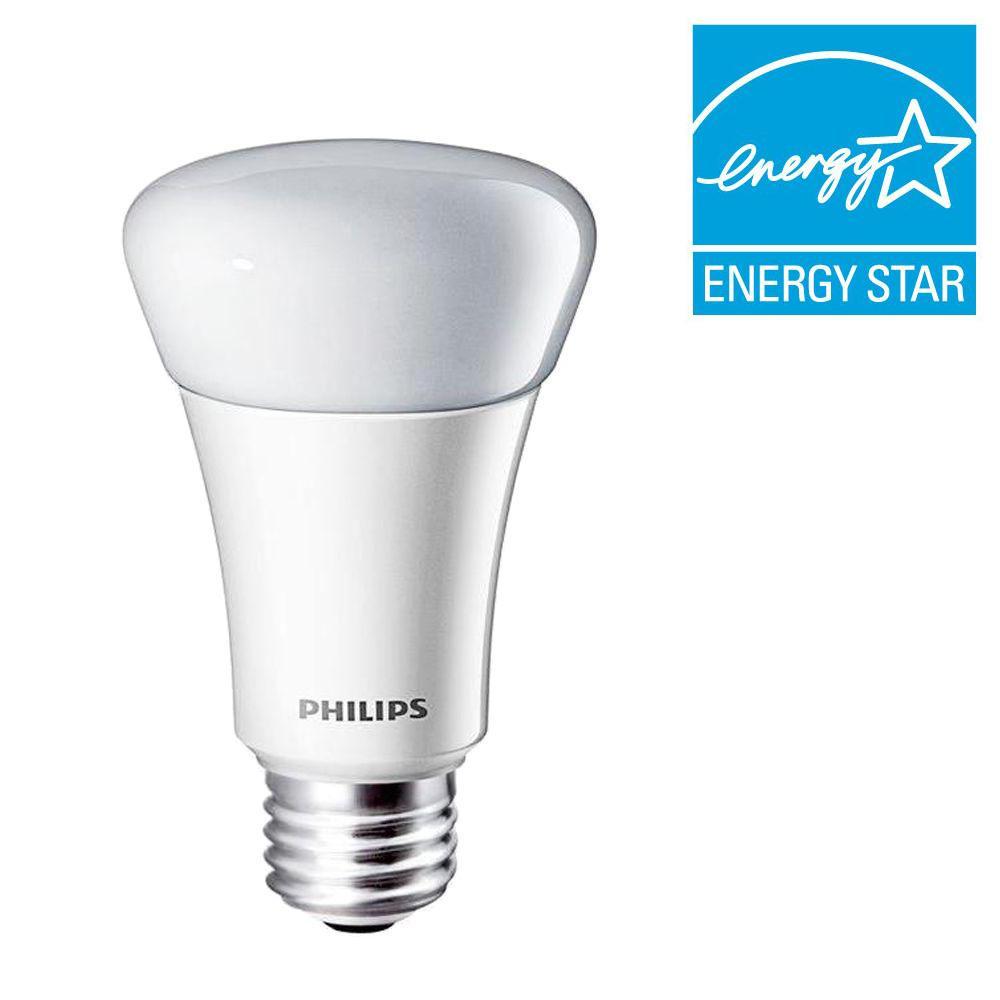 Philips 40W Equivalent Soft White (2700K) A19 LED Light Bulb (E)* (2-Pack)