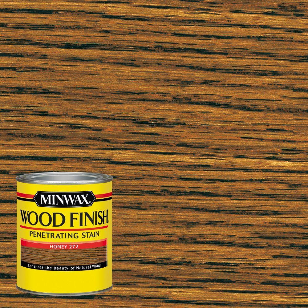 Minwax 1 qt. Wood Finish Honey Oil Based Interior Stain