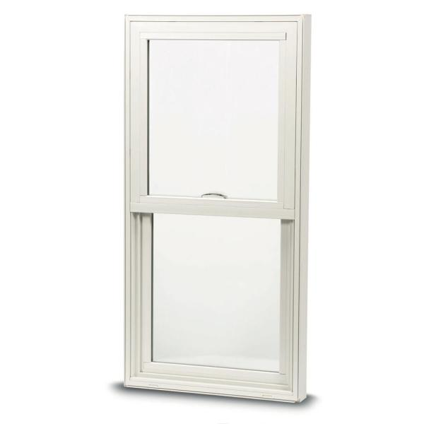 28 in. x 54 in. 100 Series Single Hung Insert Composite Window with White Exterior