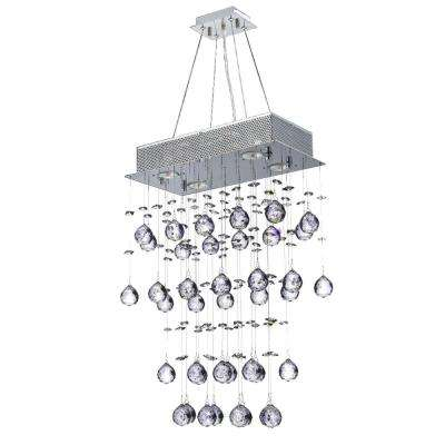 Icicle Collection 4-Light Polished Chrome Crystal Chandelier