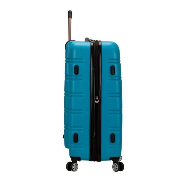 Rockland Melbourne 28 In Turquoise Expandable Hardside